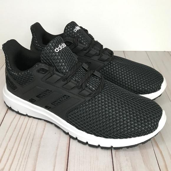 ADIDAS Men's Ultimashow Black Running Shoes 8, 9